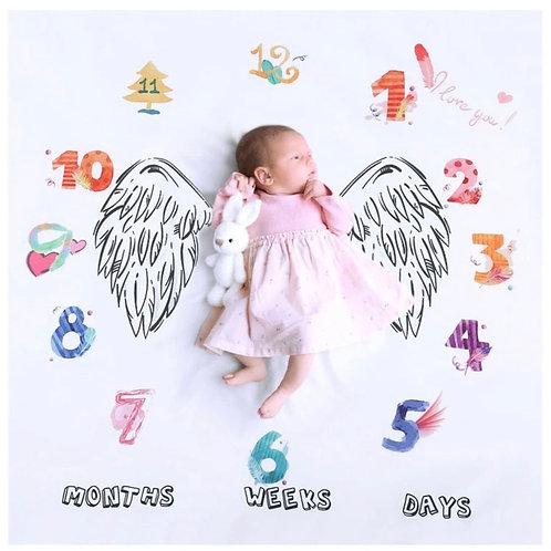 Manta para documentar el primer año de tu bebé-Angel