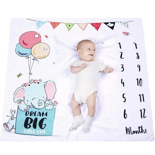 Manta para documentar el primer año de tu bebé-Elefantito
