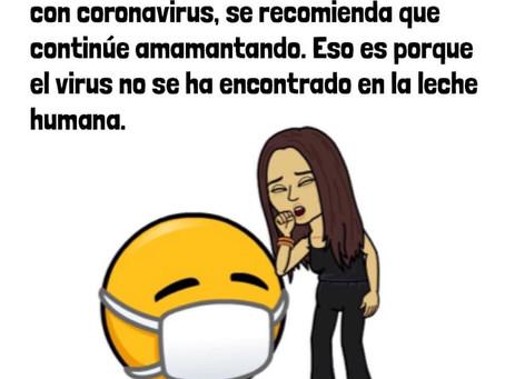 ¿Qué pasa si la persona lacta y contrae el coronavirus?