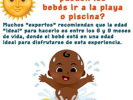 ¿Desde qué edad los bebés pueden ir a la playa o piscina?