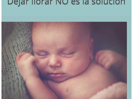 Libro:  El sueño del bebé...Dejar llorar No es la solución