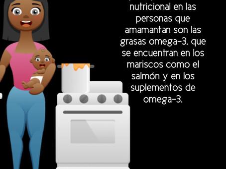 La principal deficiencia nutricional en las personas que amamantan son las grasas omega-3