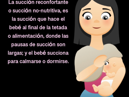 Beneficios de la succión no-nutritiva o succión reconfortante