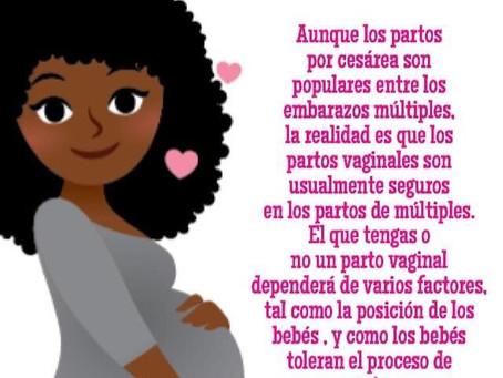 Los partos vaginales son usualmente seguros en los partos de múltiples