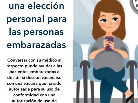 Vacunarse es una elección personal para las personas embarazadas