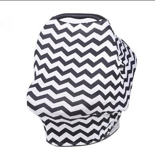 Multi Use Nursing Cover Chevron Black