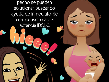 Cuando el bebé tiene un pobre agarre al pecho