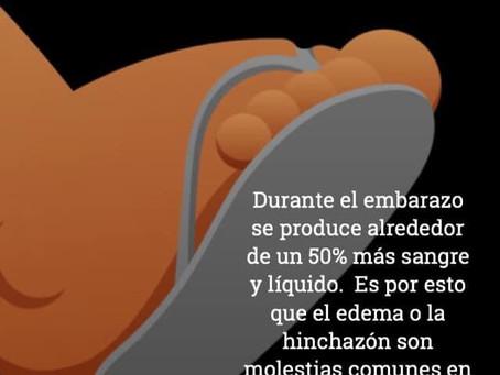 Pasos para reducir el edema del embarazo