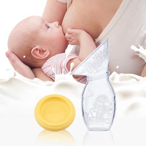 Recolector de leche de silicona