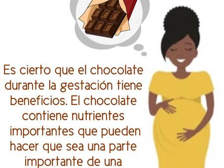 El chocolate durante la gestación tiene beneficios