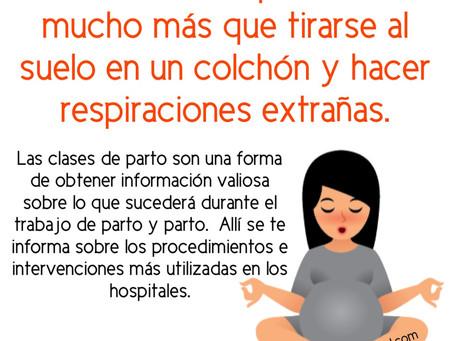 Las clases de parto son una forma de obtener información valiosa