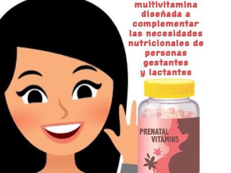La vitamina prenatal es una multivitamina diseñada a complementar las necesidades nutricionales