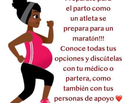 Prepárate para el parto como un atleta se prepara para un maratón