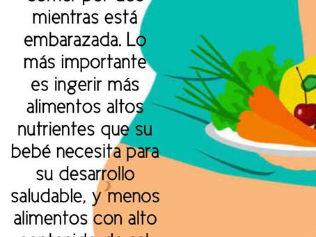 Alimentación saludable durante la gestación