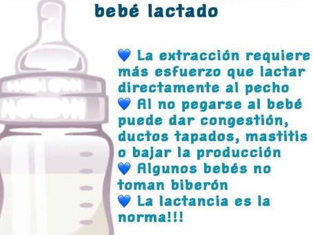 No es necesario dar biberón cuando se sale con bebé lactado