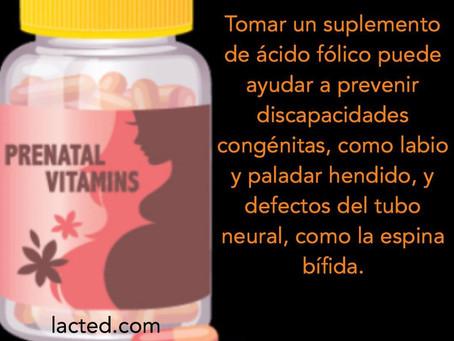 El ácido fólico puede ayudar a prevenir discapacidades congénitas