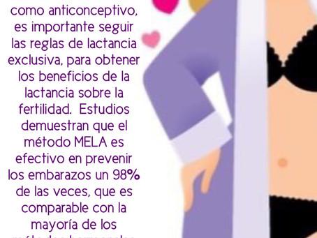 Las reglas del Método MELA (Amenorrea por la Lactancia)