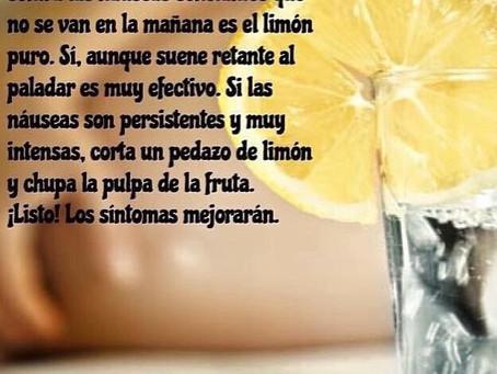 El limón ayuda a controlar las náuseas en el embarazo