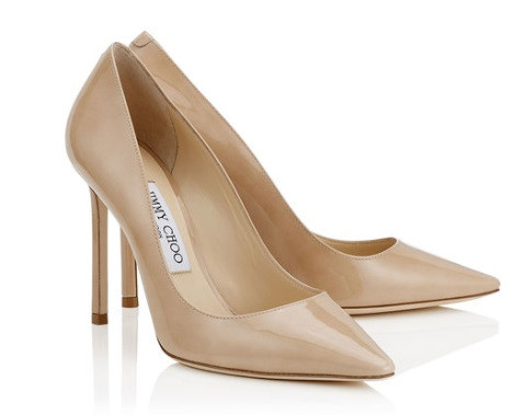 Jimmy Choo Nude Patent Leather