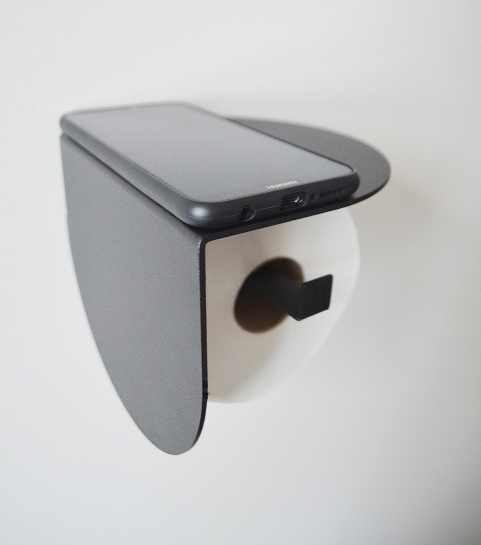 Viola toilet roll holder black