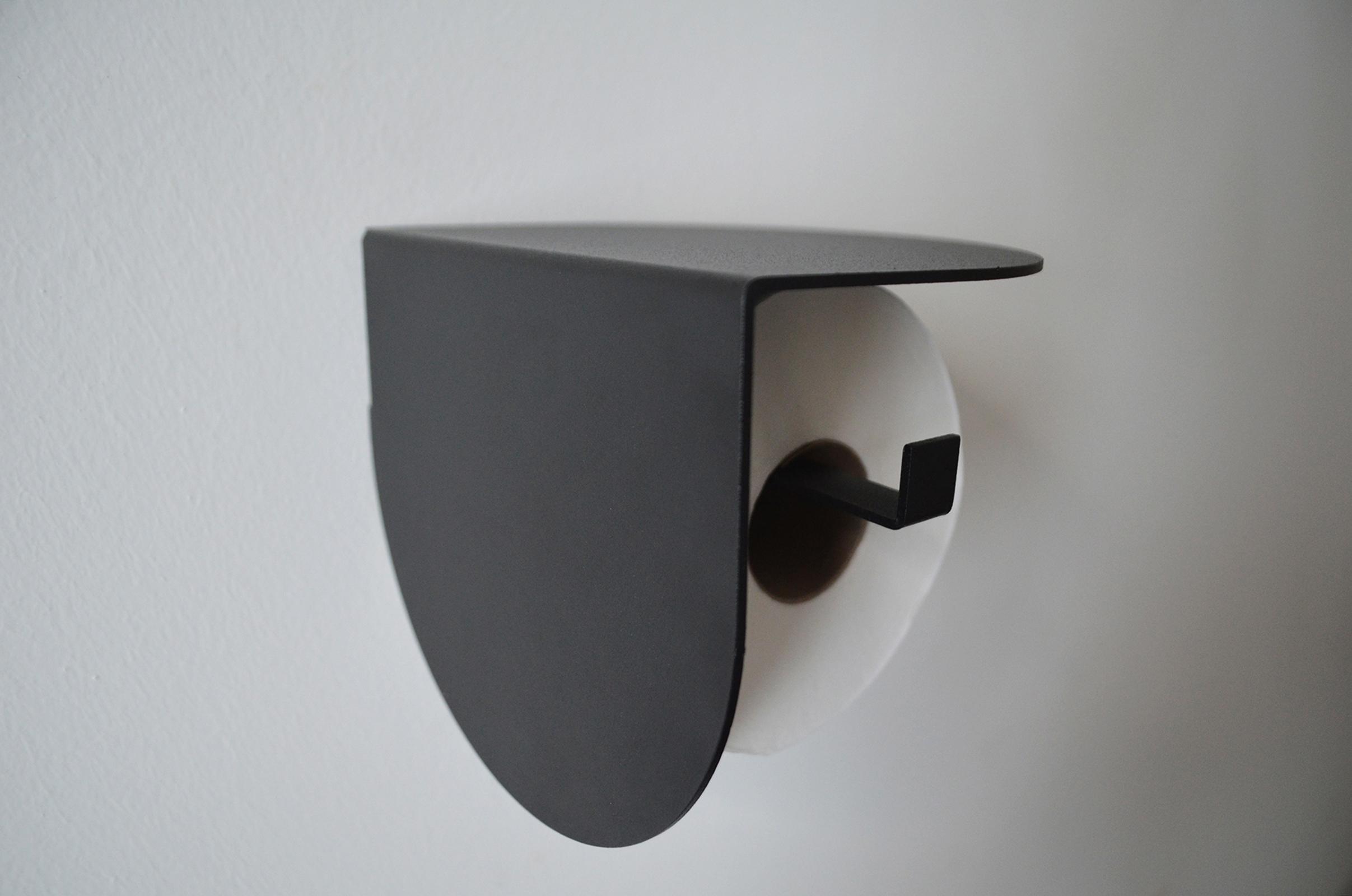 Viola toilet roll holder-Black-133 (2)