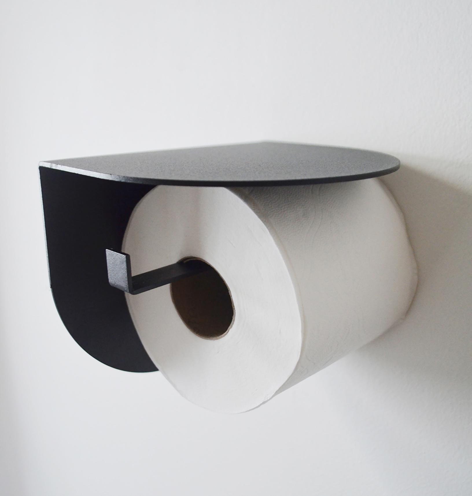Viola toilet roll holder-Black-133 (1)