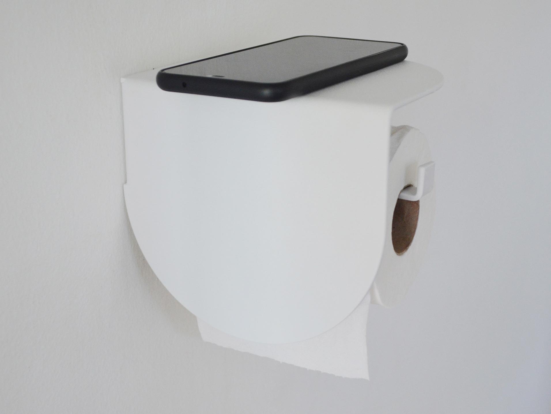 Viola toilet roll holder-White-134 (1)