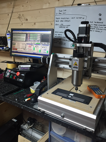 New CNC up and running at last. Much better, faster with a good improvement in finish.