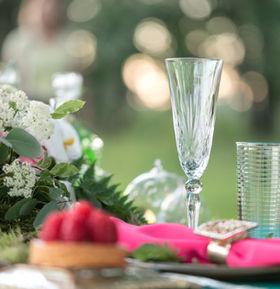 table setting. Wedding decor in the magi