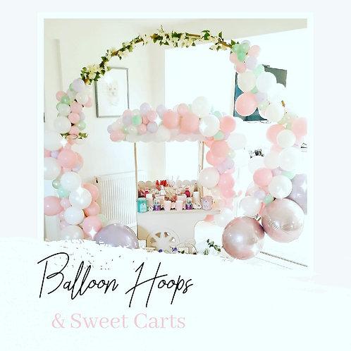 SWEET CART WITH BALLOON GARLAND