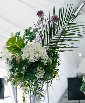 Decorative table decoration with natural and artificial flowers, handmade compositions, wh