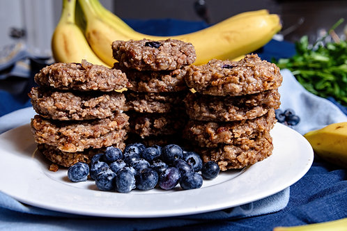 Banana Oatmeal Blueberry Breakfast Cookies