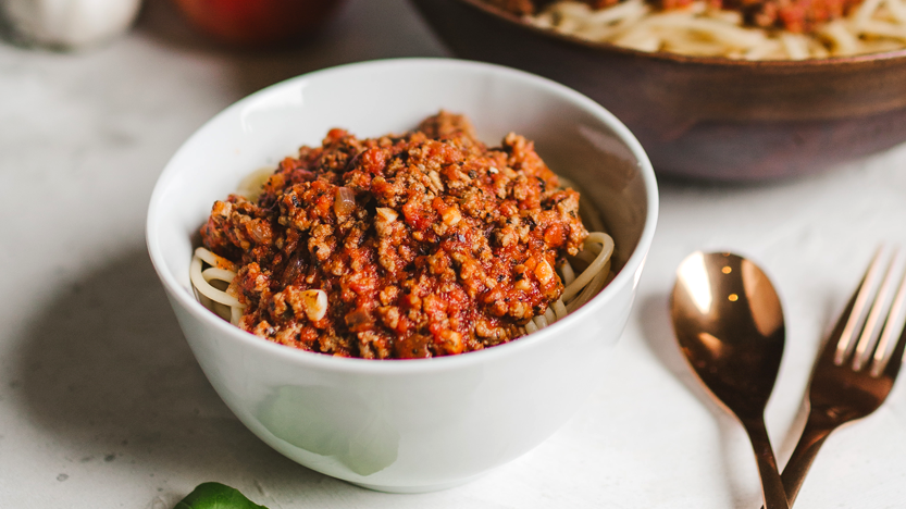 Grandma Jan's Bolognese with Zucchini Noodles