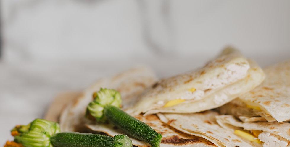 Chicken & Zucchini Quesadillas