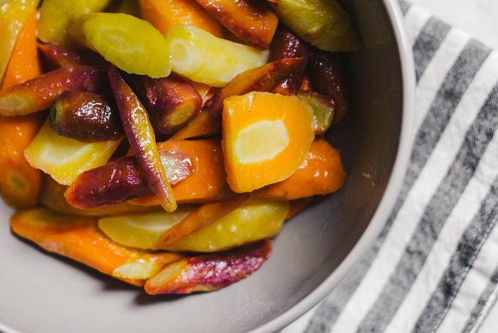 Colorful Carrots with Honey & Lemon