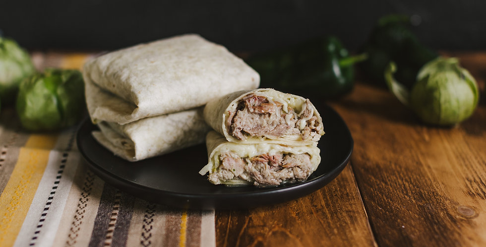 Pulled Pork in Salsa Verde Burritos
