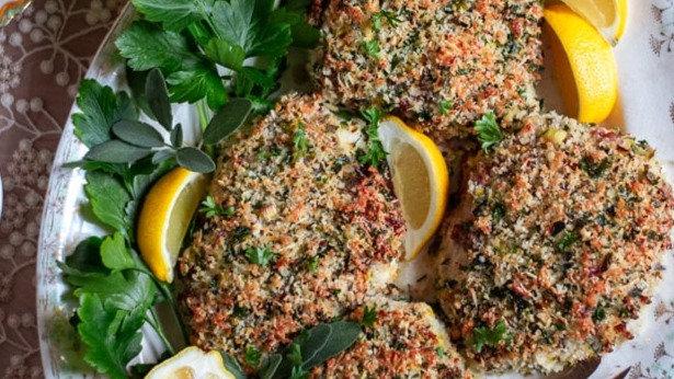Crispy Fresh Herb Turkey Cutlets