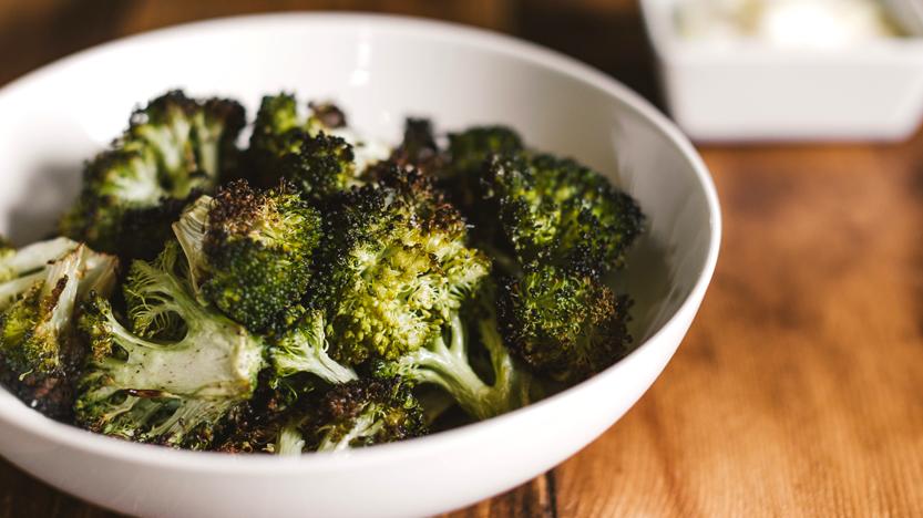 Roasted Broccoli with Lemon Aioli