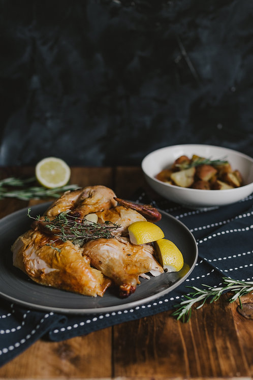 Whole Roasted Chicken with Lemon & Thyme