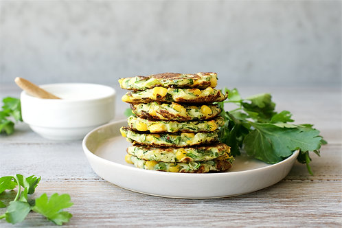 Swiss Chard Fritters with French Carrot Salad