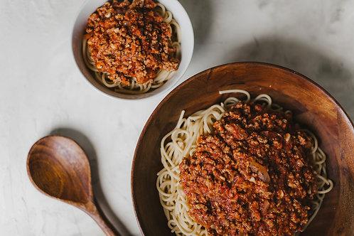 Grandma Jan's Bolognese with Spaghetti