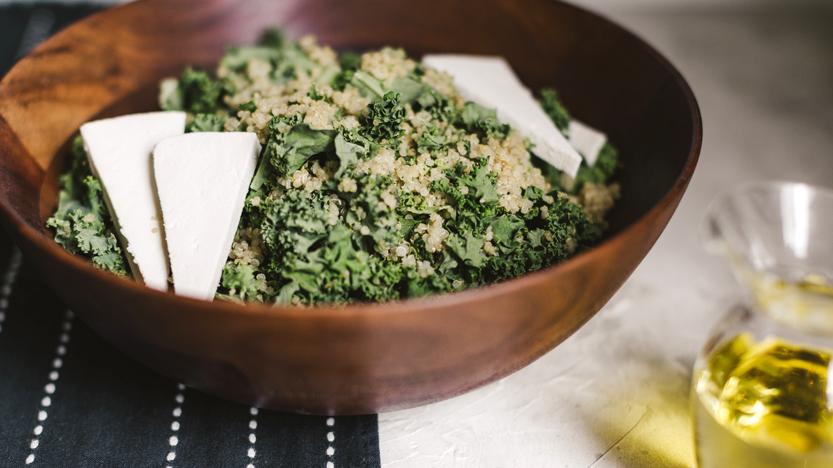 Kale & Quinoa Salad with Ricotta Salata