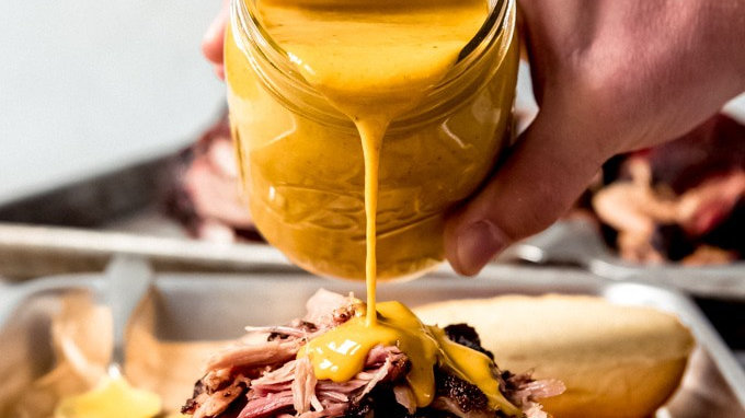 Carolina Smoked Pulled Pork with Mustard BBQ