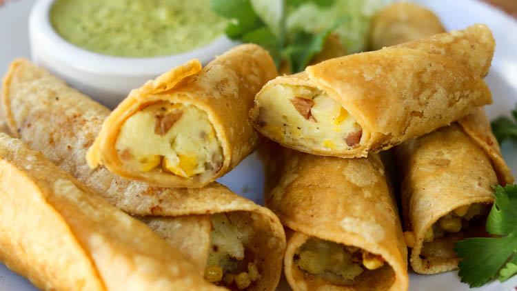 Chicken, Potato & Cheese Flautas