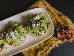 Chicken, Apple & Brussels Sprout Sopes