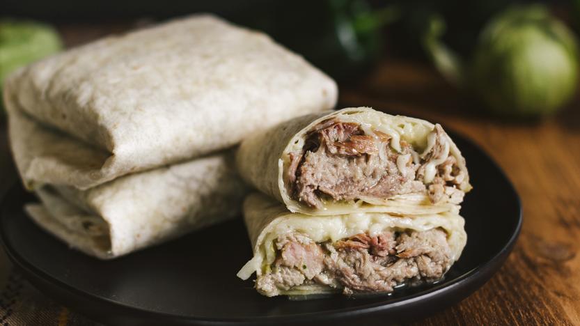 Pulled Pork in Salsa Verde Burritos