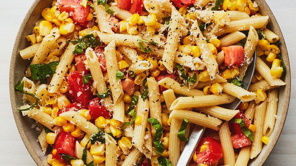 Pasta Salad with Tomatoes & Corn
