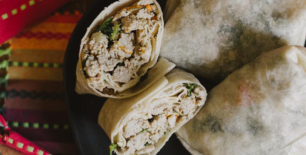 Turkey, Spinach & Sweet Potato Burrito