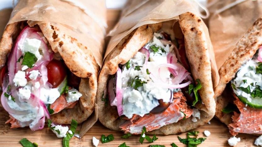 Greek Salmon Gyros