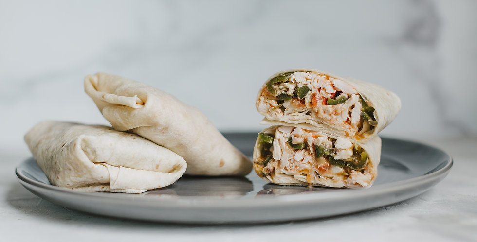 Chicken Machaca Burritos